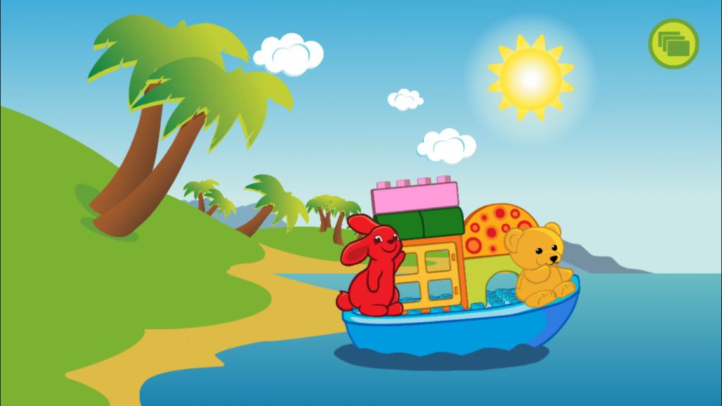 Pupu ja nalle veneilevät kohti jäätelökiskaa.