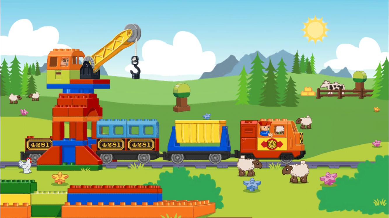 Duplo-maailmassa junatkin ovat värikkäitä.