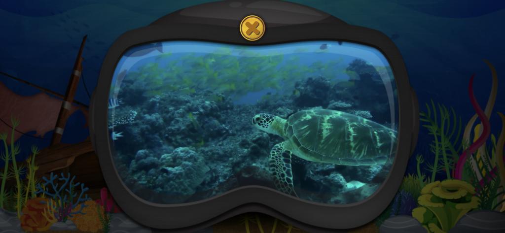 Opettavainen meriaiheinen iPad-peli lapsille.