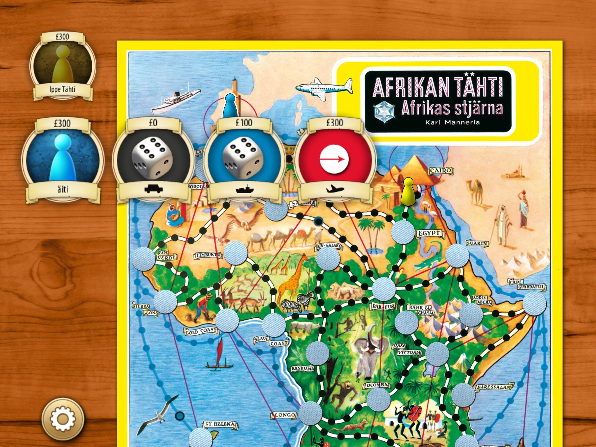 Afrikan tähti -sovellus tabletille
